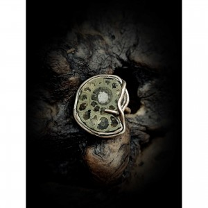 "Women's ring ""ammonite with silicon"" jewelry"