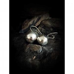 """silver earrings """"ball 10 ' """" jewelry"""