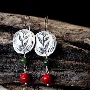 silver coral earrings jewelry