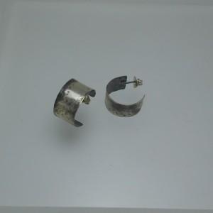 """Earrings Silver """"wide ring"""" jewelry"""