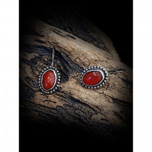 """Women's """"agate"""" earrings jewelry"""