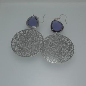 """Women's """"zircon blue"""" earrings jewelry"""