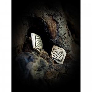 Women's earrings (fans) jewelry