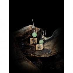 Aventurine - earrings