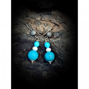 925 sterling silver earrings - turquoise