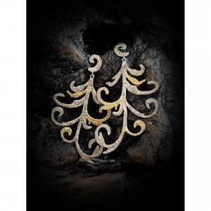 925 sterling silver earrings - embroidery