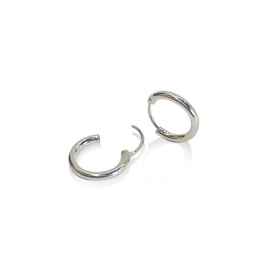 Earrings hoops 2 mm.