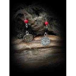 Watch earrings