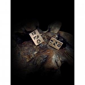 Handmade cufflinks with theme - silver design - form men's gift