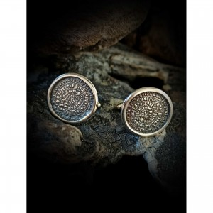 Handmade cufflinks with theme - Greece-Phaistos disc