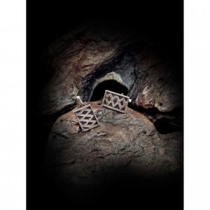 Handmade cufflinks with theme - silver design men's gift