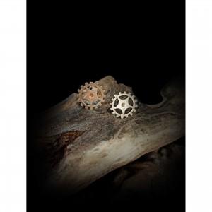 Handmade cufflinks with theme - silver design - gears men's gift