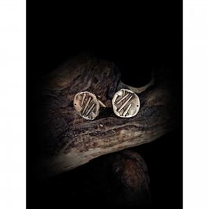 Handmade cufflinks with theme - silver design-lines men's gift