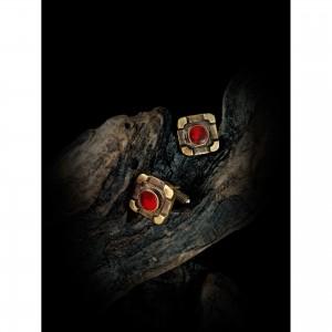 Handmade cufflinks with theme - design - agate men's gift