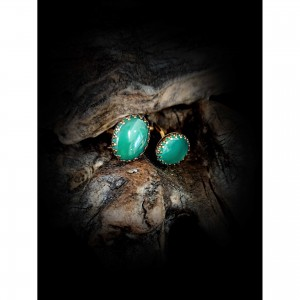 Handmade cufflinks with theme - green agate men's gift