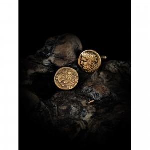Handmade cufflinks with theme - coin men's gift