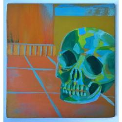 Painting - Green Skull