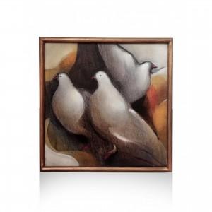 Leventis Vassilis: the pigeons Paintings