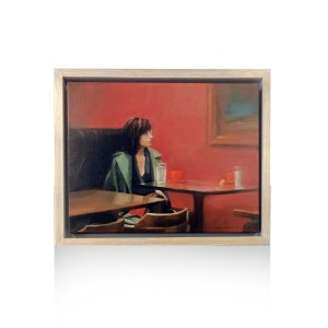 Papaioannou Giannis painting - the cafe Paintings
